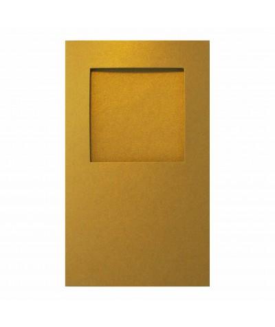 О32004 Открытка тройная квадрат золотая