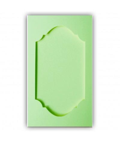 О35013 Открытка тройная Фигурная 1  светло-зеленая матовая