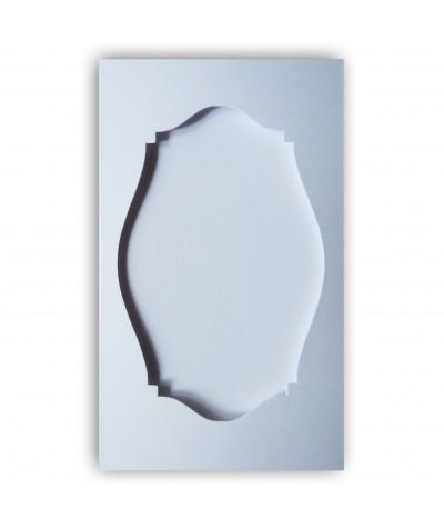 О36001 Открытка тройная Фигурная 2 белая матовая