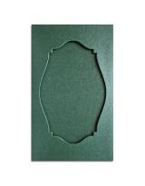О36003 Открытка тройная Фигурная 2 зеленая перламутровая