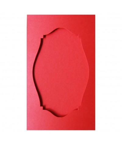 О36009 Открытка тройная Фигурная 2  красная матовая
