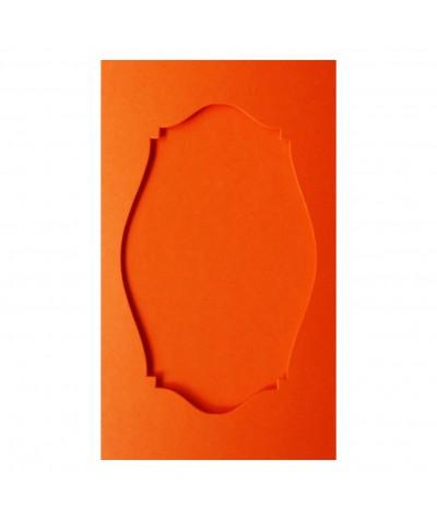 О36010 Открытка тройная Фигурная 2  оранжевая матовая