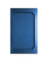 О37007 Открытка тройная Фигурная 3 синяя перламутровая