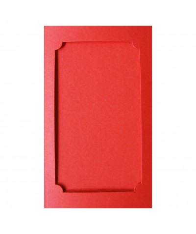 О37009 Открытка тройная Фигурная 3 красная матовая