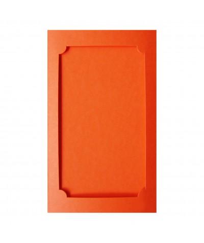 О37010 Открытка тройная Фигурная 3 оранжевая матовая