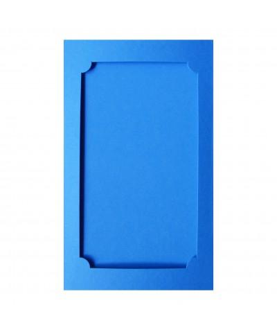 О37012 Открытка тройная Фигурная 3 ярко-голубая матовая