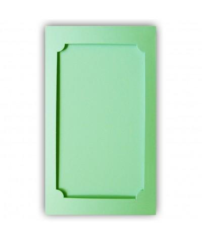 О37013 Открытка тройная Фигурная 3 светло-зеленая матовая
