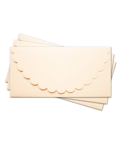 ОК1002 Основа для подарочного конверта №1 комплект 3шт.  Цвет кремовый матовый