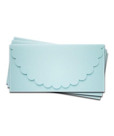ОК1003 Основа для подарочного конверта №1 комплект 3шт.  Цвет светло-голубой матовый