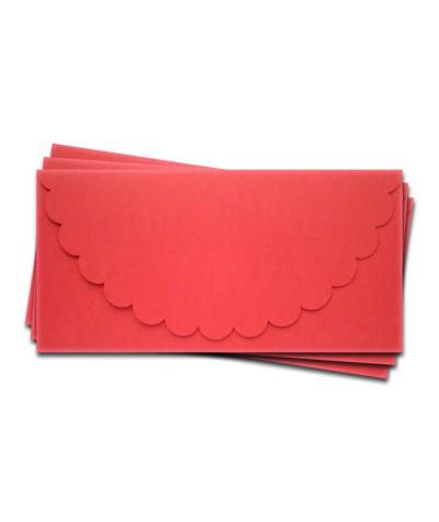 ОК1005 Основа для подарочного конверта №1 комплект 3шт.  Цвет красный матовый