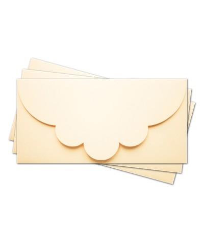 ОК2002 Основа для подарочного конверта №2 комплект 3шт.  Цвет кремовый матовый