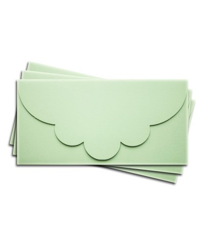 ОК2004 Основа для подарочного конверта №2 комплект 3шт.  Цвет светло-зеленый матовый