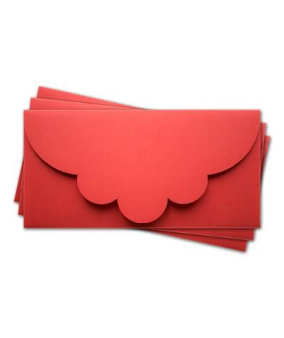 ОК2005 Основа для подарочного конверта №2 комплект 3шт. Цвет красный матовый