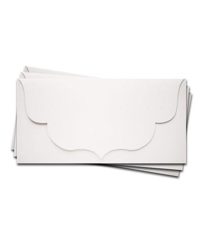ОК3001 Основа для подарочного конверта №3 комплект 3шт. Цвет белый матовый