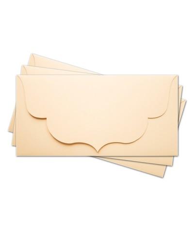 ОК3002 Основа для подарочного конверта №3 комплект 3шт. Цвет кремовый матовый