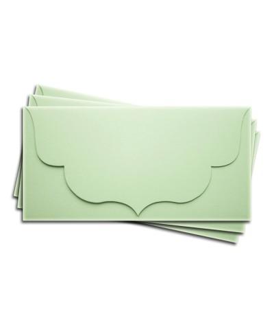 ОК3004 Основа для подарочного конверта №3 комплект 3шт. Цвет светло-зеленый матовый