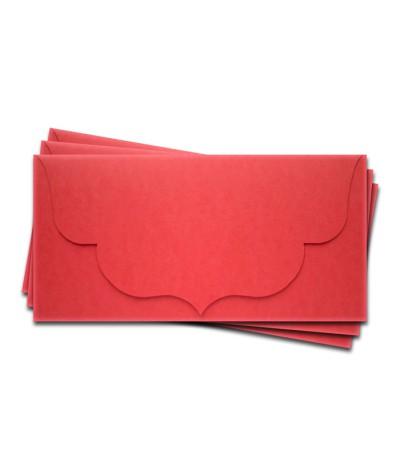 ОК3005 Основа для подарочного конверта №3 комплект 3шт. Цвет красный матовый