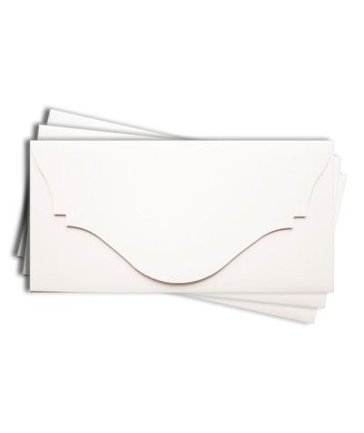 ОК4001 Основа для подарочного конверта №4 комплект 3шт. Цвет белый матовый