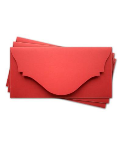 ОК4005 Основа для подарочного конверта №4 комплект 3шт. Цвет красный матовый