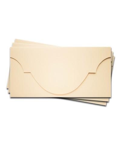 ОК5002 Основа для подарочного конверта №5 комплект 3шт. Цвет кремовый матовый