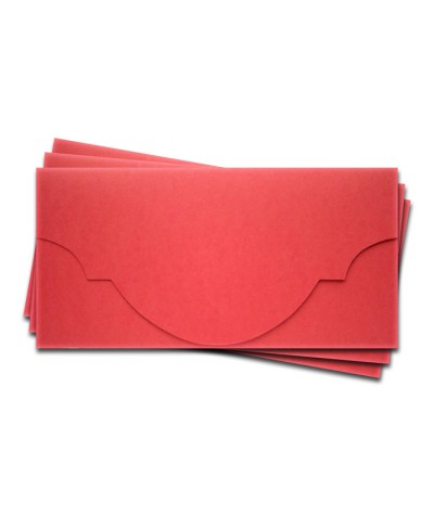ОК5005 Основа для подарочного конверта №5 комплект 3шт. Цвет красный матовый