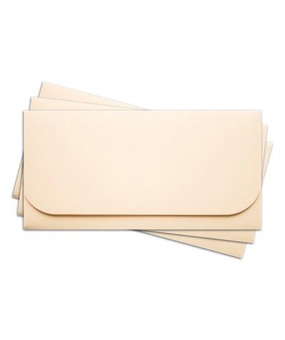 ОК6002 Основа для подарочного конверта №6 комплект 3шт. Цвет кремовый матовый