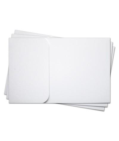 ОПК1001 Основа для оформления  подарочной КАРТЫ №1 КОМПЛЕКТ 3шт. Цвет белый матовый