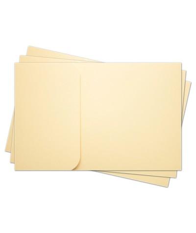 ОПК1002 Основа для оформления  подарочной КАРТЫ №1 КОМПЛЕКТ 3шт. Цвет кремовый матовый