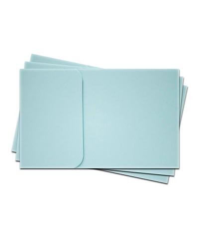 ОПК1003 Основа для оформления  подарочной КАРТЫ №1 КОМПЛЕКТ 3шт. Цвет светло-голубой матовый