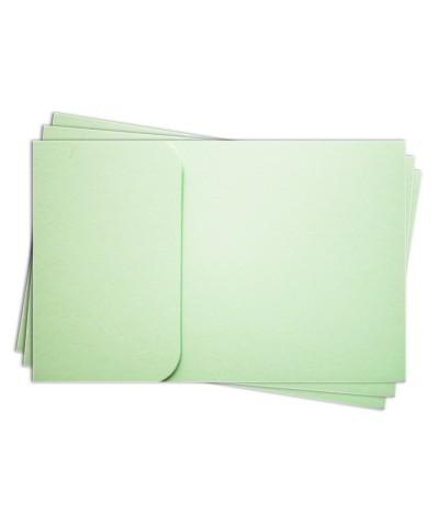 ОПК1004 Основа для оформления  подарочной КАРТЫ №1 КОМПЛЕКТ 3шт. Цвет светло-зеленый матовый