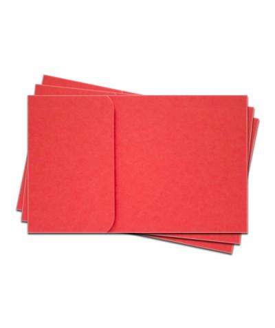 ОПК1005 Основа для оформления  подарочной КАРТЫ №1 КОМПЛЕКТ 3шт. Цвет красный матовый