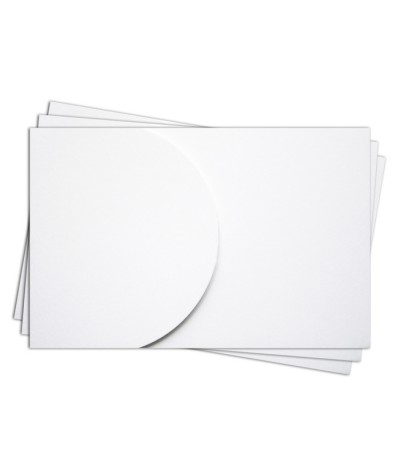 ОПК2001 Основа для оформления  подарочной карты №2 КОМПЛЕКТ 3шт. Цвет белый матовый