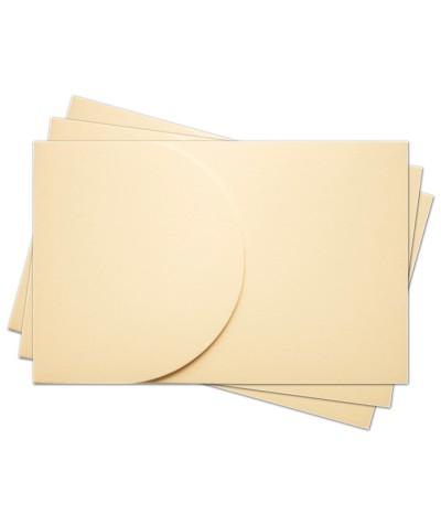 ОПК2002 Основа для оформления  подарочной карты №2 КОМПЛЕКТ 3шт. Цвет кремовый матовый