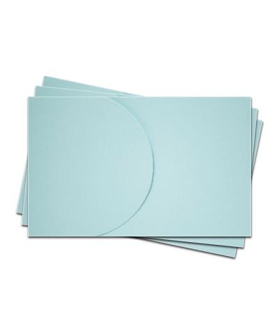 ОПК2003 Основа для оформления  подарочной карты №2 КОМПЛЕКТ 3шт. Цвет светло-голубой матовый