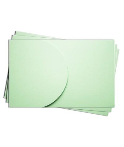 ОПК2004 Основа для оформления  подарочной карты №2 КОМПЛЕКТ 3шт. Цвет светло-зеленый матовый