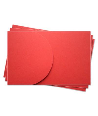 ОПК2005 Основа для оформления  подарочной карты №2 КОМПЛЕКТ 3шт. Цвет красный матовый