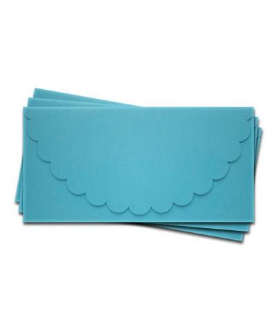 ОК1006 Основа для подарочного конверта №1 комплект 3шт.  Цвет ярко-голубой матовый
