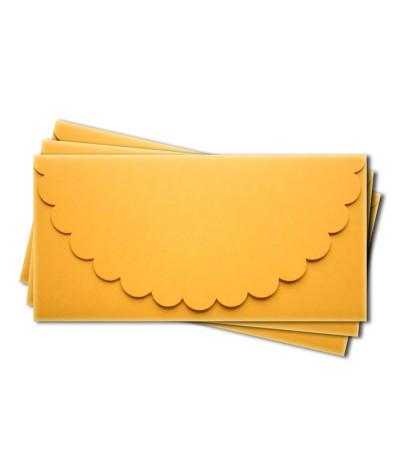 ОК1007 Основа для подарочного конверта №1 комплект 3шт.  Цвет желтый матовый