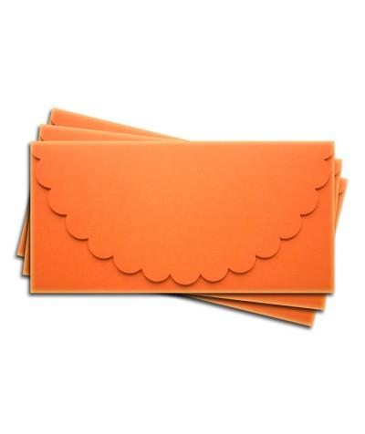 ОК1008 Основа для подарочного конверта №1 комплект 3шт.  Цвет оранжевый матовый