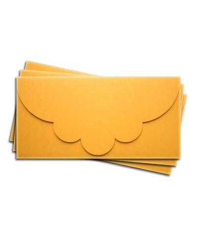 ОК2007 Основа для подарочного конверта №2 комплект 3шт. Цвет желтый матовый