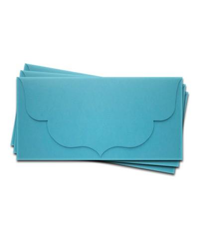 ОК3006 Основа для подарочного конверта №3 комплект 3шт. Цвет ярко-голубой матовый
