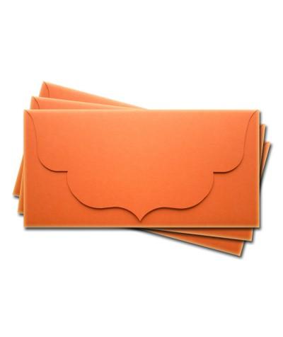 ОК3008 Основа для подарочного конверта №3 комплект 3шт. Цвет оранжевый матовый