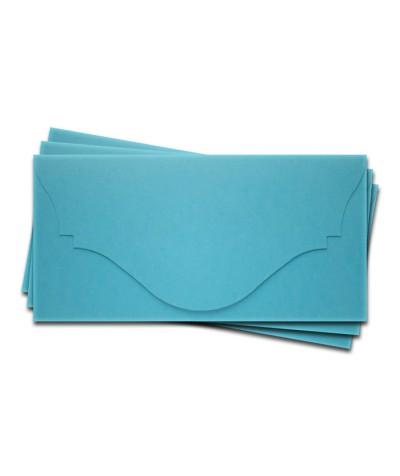 ОК4006 Основа для подарочного конверта №4 комплект 3шт. Цвет ярко-голубой матовый