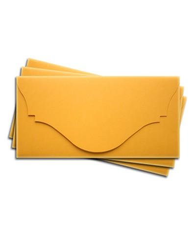 ОК4007 Основа для подарочного конверта №4 комплект 3шт. Цвет желтый матовый