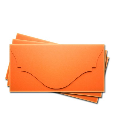 ОК4008 Основа для подарочного конверта №4 комплект 3шт. Цвет оранжевый матовый