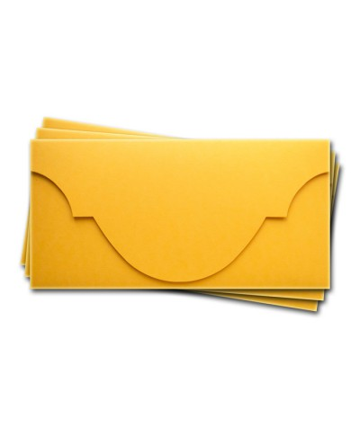 ОК5007 Основа для подарочного конверта №5 комплект 3шт. Цвет желтый матовый