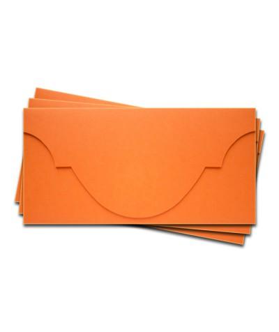 ОК5008 Основа для подарочного конверта №5 комплект 3шт. Цвет оранжевый матовый