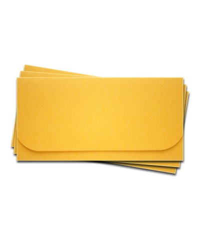 ОК6007 Основа для подарочного конверта №6 комплект 3шт. Цвет желтый матовый