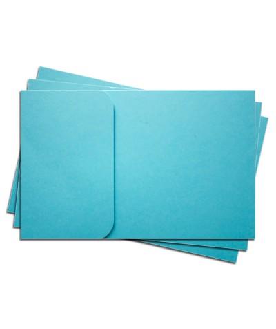 ОПК1006 Основа для оформления  подарочной КАРТЫ №1 КОМПЛЕКТ 3шт. Цвет ярко-голубой матовый