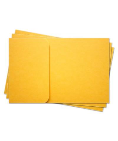 ОПК1007 Основа для оформления  подарочной КАРТЫ №1 КОМПЛЕКТ 3шт. Цвет желтый матовый